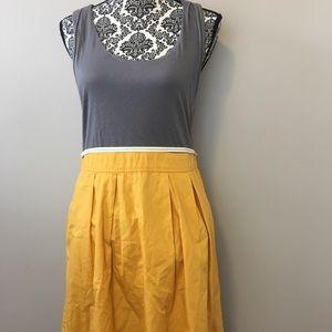 Anthropologie Maeve grey yellow dress size 10